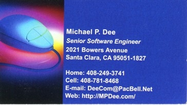 Independent Software Engineer Business Card