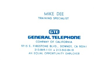 GTE Business Card