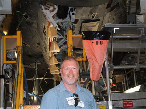 Mike in Front of ATLANTIS Nose Gear